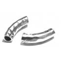 Conta Metal Tubo Curto Efeito Martelado - Prateado (5 mm)