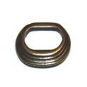 Conta Zamak Argola Separador Ondas - Bronze (Extra-Grosso)