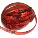 Cabedal Plano Padrão Serpente - Red (10 x 2)