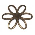Pendente Metal Flor Aberta - Bronze (50 mm)