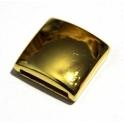 Conta Zamak Quadrado Liso - Ouro (14 x 2 mm)