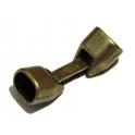 Fecho Zamak Liso - Bronze (Extra-Grosso)
