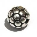 Conta Zamak Bola Futebol - Prata (2 mm)