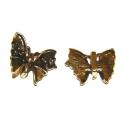 Conta Metal Borboleta Strass - Dourado (8 x 2)