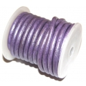 Cabedal Redondo metalic lilac (5 mm)