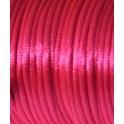 Cordão de seda fluoresc. fuchsia (2 mm) - 1 metro
