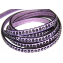 Cabedal Plano c/ Strass - Lilac (5 mm)