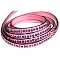 Cabedal Plano c/ Strass - Pink (8 x 3)