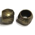 Conta Zamak Pipa Riscas - Bronze (10 mm)