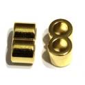 Conta Zamak Passador 2 Vias - Ouro (5 mm)