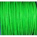 Cabedal Redondo de 2 mm Fluorc. Green - 50 cm