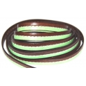 Cabedal Plano Pesp. Central Dark Brown - Green (10 x 2)