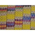 Cabedal Plano Forrado Linho Padrão Listas - Yellow Intense (10 x 2)