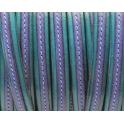 Cabedal Plano Pespontado - Turq / Violet (10 + 5 x 2)