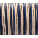 Cabedal Plano Pespontado - Blue/Natural (10 + 5 x 2)