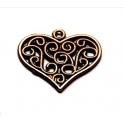 Pendente Zamak Coração Cornucopia - Bronze