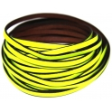 Cabedal Plano Flourescent Yellow - Black (5 mm)