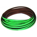Cabedal Plano Flourescent Green - Black (5 mm)