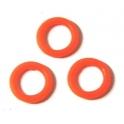 Argola de Silicone (10 x 6) - Orange