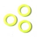 Argola de Silicone (10 x 6) - Yellow