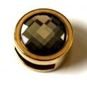 Conta Zamak Moeda com Strass Black Diamond - Dourado (10 x 3)