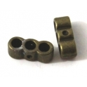 Conta Metal Passador 3 Vias - Bronze (3 mm)