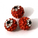 Conta Shamballa Orange Flower (10 mm)