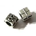 Conta Metal Prenda - Prateada (6 mm)