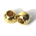 Conta Zamak Bola de 10 mm - Dourado (5 mm)