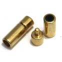 Fecho Zamak Tubo de Pressão - Ouro (5 mm)