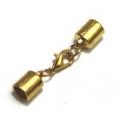 Fecho Mosquetão com Terminais Lisos - Dourado (5 mm)