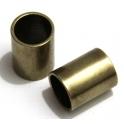 Conta Zamak Tubo Liso Comprido - Bronze (10 mm)