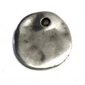 Pendente Zamak Medalha Amachucada - Prata (20 mm)