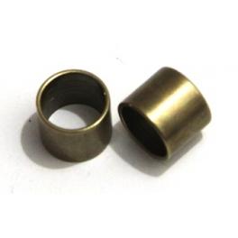 Conta Zamak Tubo Liso Curto - Bronze (10 mm)