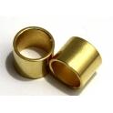 Conta Zamak Tubo Liso Curto - Dourado (10 mm)