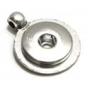 Base Pendente Easy Button Circular - Prateada