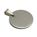 Pendente Aço Inox Redondo - Prateado (25 mm)