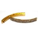 Conta Metal Brilhantes - Dourada (2 mm)