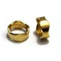 Conta Zamak Argola Ondulada - Dourado (10 mm)