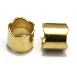 Conta Zamak Tubo Ondulado - Ouro (10 mm)
