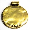 Pendente Zamak Redondo com Furos - Dourado (57 mm)