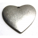 Pendente Zamak Big Heart - Prata (49 x 51 mm)