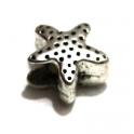 Conta Metal Estrela - Prateada (5 mm)