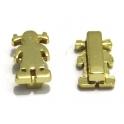 Conta Metal Menina - Dourado (10 x 2)