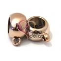 Conta CCB Bola UV Ouro Rosa c/ Argola (10 mm)