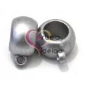 Conta Acrilica Silver Mat c/ Argola (10 mm)