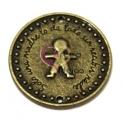 Conta Conector Metal Redondo Menino - Bronze