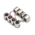 Conta Metal Passador 4 Vias - Prateado (3 mm)
