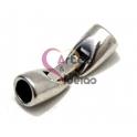 Fecho Metal Arredondado de Encaixe - Prateado (5 mm)