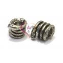 Conta Metal Cobrinha - Prateado (4 mm)